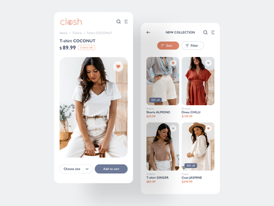 Clothing Store Redesign white clean mobile ui store clothing redesign
