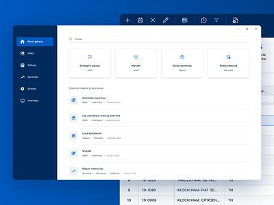 WMS dashboard system management system management warehouse minimal agency desktop wms ui dashboard ui dashboard windows