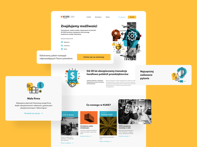 Landing Page Redesign yellow ux uiux polishdesigners polishdesigner agency desktop brand bold colors clean redesign website financial design designer userinterface uidesign ui