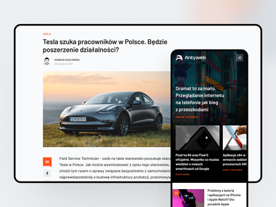 Redesign for Antyweb technews userinterface redesign designers polish tech service news antyweb design uidesign desktop agency mobile clean website ui