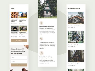 Woodly - mobile version clean catalogue mobile ui design ui