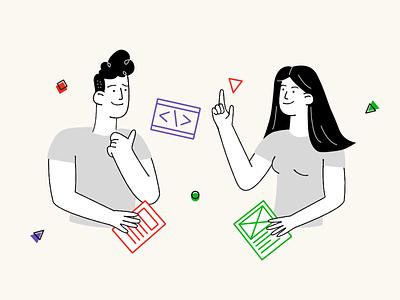 Social media post illustration affinitydesigner procreate clean minimal illustration