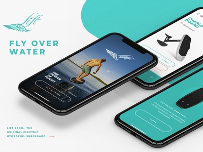 Lift eFoil App Preview surf debrain lift preview uidesign digital ui design