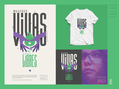 Vivas y Libres campaña / México debrain hands mexico icon logo vector illustration color typography design campaign design