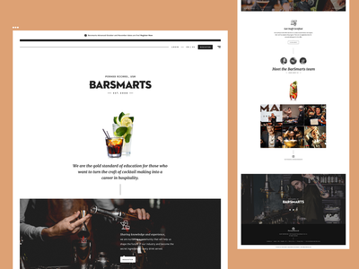 Barsmarts Site proposal debrain webdesign website typography ui uidesign sitedesign site