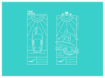 Lift eFoil Merch debrain merch sea surf nature color design vector digital illustration