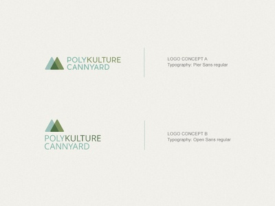 Polikulture Cannyard Logo concept color branding vector mountain green logo