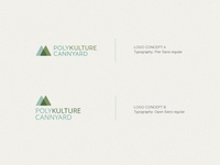 Polikulture Cannyard Logo concept