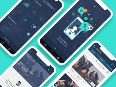 GATE (Game & Teams) APP sketch social app green blue uidesign ui web desgin sport app interaction app design branding