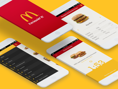 McDonald´s Redeem App app user interface design web design yellow appdesign ui  ux design food hamburger mcdonalds