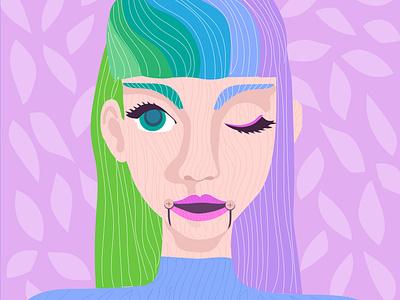 Wooden feminist feminine female woman illustration girl doll wooden pretty playful vector illustration