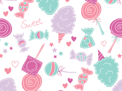 Sweet Candy Pattern for Girls