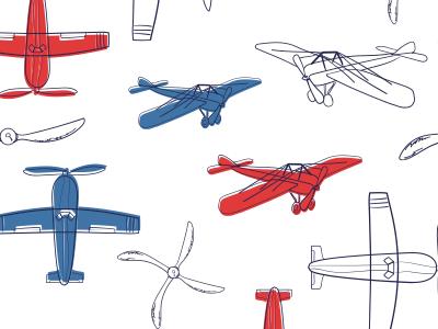 Boys Room Antique Airplanes