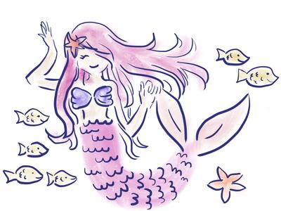 Mermaid Princess in Pink