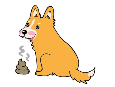 Devious Corgi Dog illustrator cc sticker design line sticker emoji poop emoji poop corgis illustration design playful vector