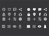 Icon Set for IOS Mobile App (Solid and Outlined Vercions)