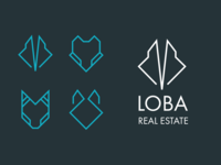Minimal wolf logo for the real estate company