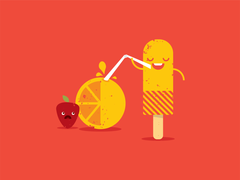 Tragic Fruit Illustration vector fruit illustration