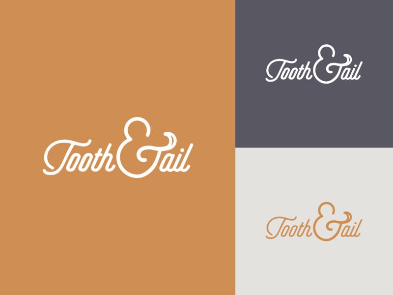 Tooth & Tail Logo wordmark pet care vector branding logo