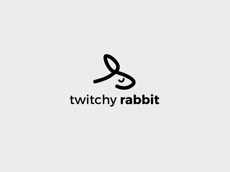 Thirty Logos - Twitchy Rabbit thirty logos twitchy design logo challenge rabbit
