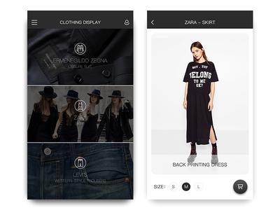 Clothing Display skirt clothing black app