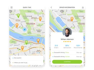 Quick Taxi driver green taxi quick car ui app