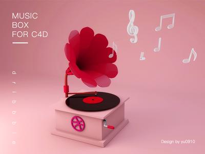 Music Box For C4D c4d pink music box music