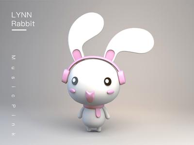 LYNN Rabbit for C4D pink music rabbit lynn c4d