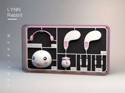 LYNN Rabbit for Model pink model rabbit lynn c4d