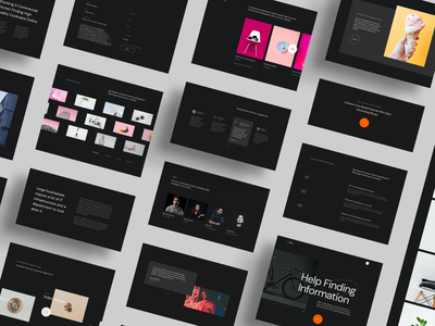 Muir - Creative UI Kit interface saas website saas design saas agency website ui ux web website design testimonials pricing call to action clean design creative design black design minimalism grid portfolio site portfolio custom trend 2020