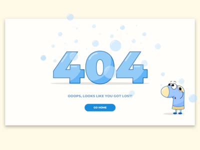 Daily UI: #008 404 page