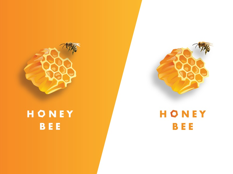 Honey Bee Logo Designs nature bee honey lettering graphicdesigner branding vector illustration typography design graphicdesign logo