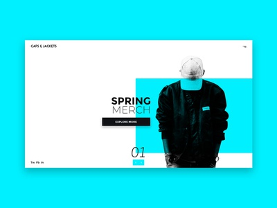 Clothes Website web design ui ux inteface webdesign website eshop clothes blue ui design