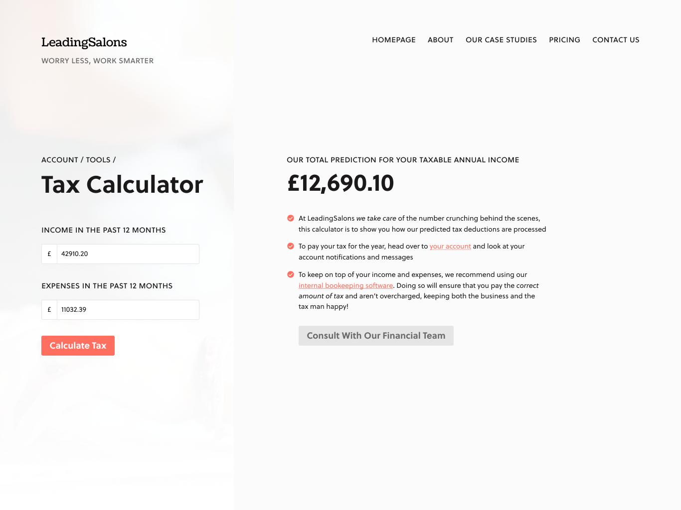 Tax Calculator tax calculator calculator ui calculator app user interface calculator