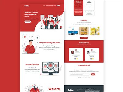 Landing Page Sribu.com sribu.com sribu white red flatdesign website design web landingpage uiux uidesign