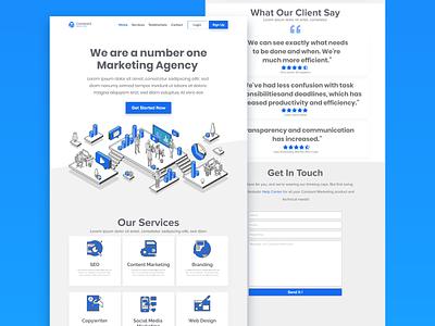 Marketing Agency Landing Page userinterface website design landing page design landingpage webdesign design uiux uidesign