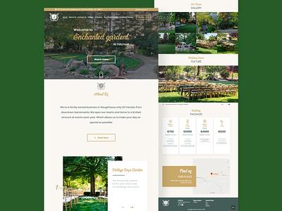 Wedding Venue Landing Page Redesign adobexd ui webdesign landingpage uiux uidesign design website design