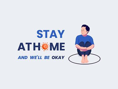 Stay At Home community warmup dribbbleweeklywarmup flatdesign stayathome coronavirus covid19 corona