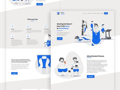 Fitness Landing Page Design adobexd uidesign webdesign uiux ui flatdesign website design landingpage
