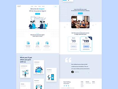Insurance Agency Design Concept ui adobexd insurance agency webdesign uiux uidesign design website design landingpage