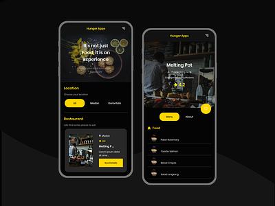 Restaurant List App Mobile dark ui restaurant app restaurant food mobile design mobile ui mobile app uiux ui