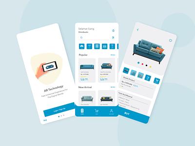 Furniture E-commerce App With AR Feature augmentedreality furniture app mobile app design mobile ui mobile app ecommerce app ui design uiux