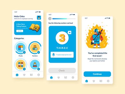 Kids Learning App Concept designinspiration interface userinterfacedesign dailyui uiinspiration uiuxdesign uxdesigner uidesigner userexperience appdesign userinterface design uiux webdesign ux uxdesign ui uidesign