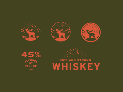 Early Development branding nice strong moose bull alcohol whiskey development early