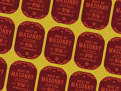 Not Actual Masons Pt.2 sticker built typography austin mason masonry