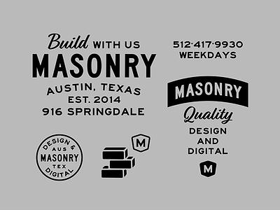 Masonry Brand Exploration typography branding old vintage logo lockup