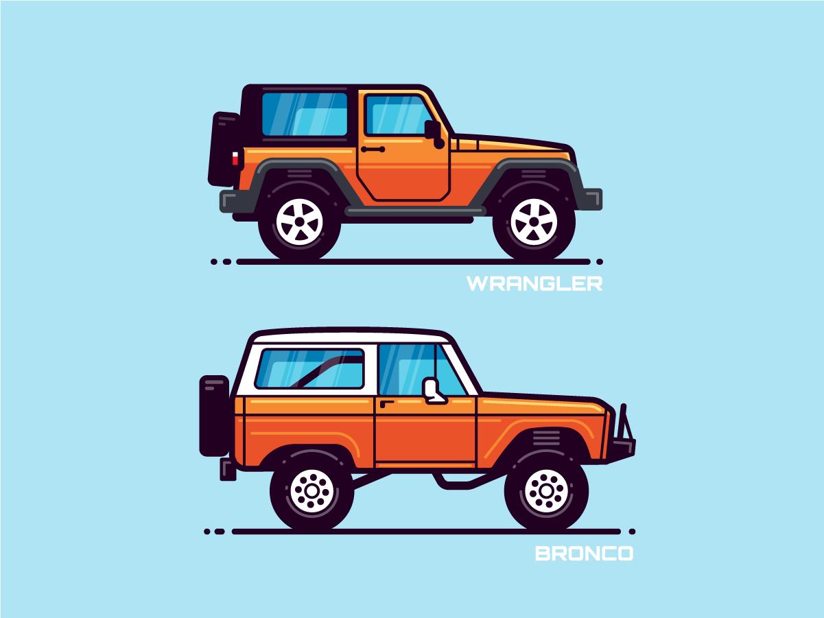 Monoline Vehicles 1.2 vector illustration car modern flat vehicle icon