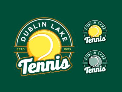 DL Tennis club sport town branding apparel graphic badge tennis mark logo