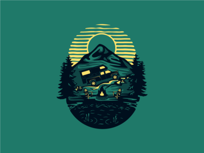 Scenic Camper Apparel Graphic