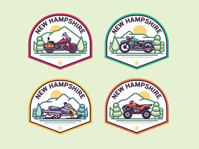 Monoline N.H. Badges